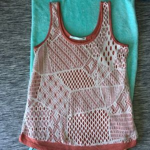 Maurices Double Layer Crochet Tank Top